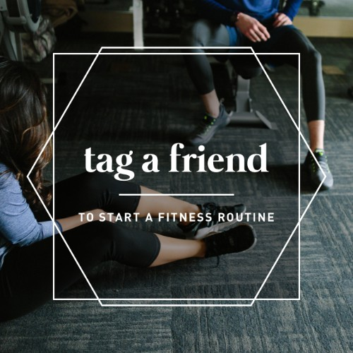 Ready, Set, Sweat! Our ___________ (gym/fitness center) is here to help make getting started or staying motivated as easy as possible. Tag that friend who always says they want to start working out with you, let's make it happen!   To find more Tag a Friend graphics:     Search:    TAG A FRIEND