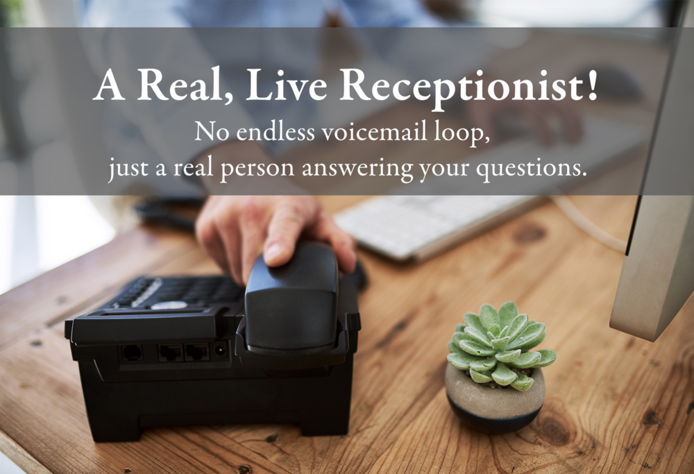a real live receptionist
