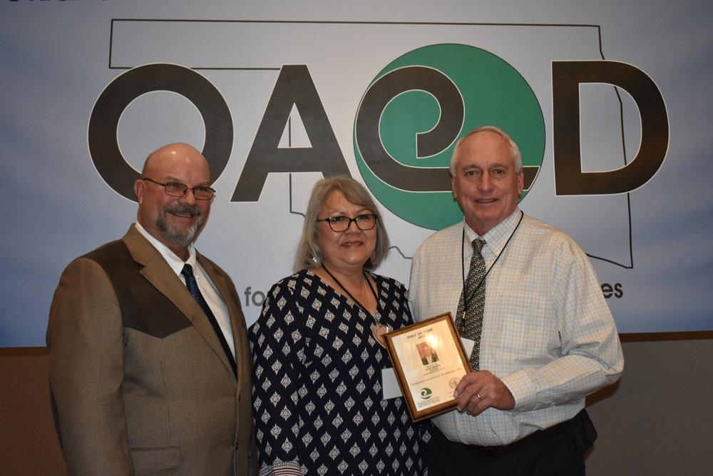 OACD President Jimmy Emmons, Robin Jenkins and Dale Jenkins