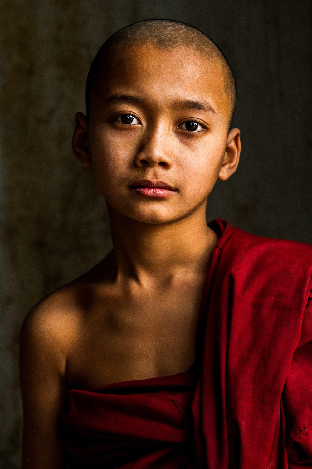 Young monk. Mandalay, Myanmar.