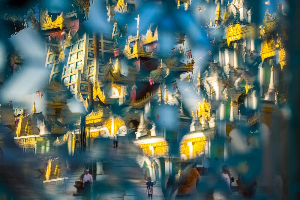Temple of Shwedagon Pagoda, Yangon, Myanmar.
