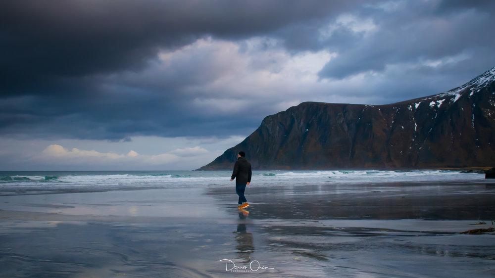 Skagsanden Beach, Lofoten, Norway - Photo by Sharon Poolan