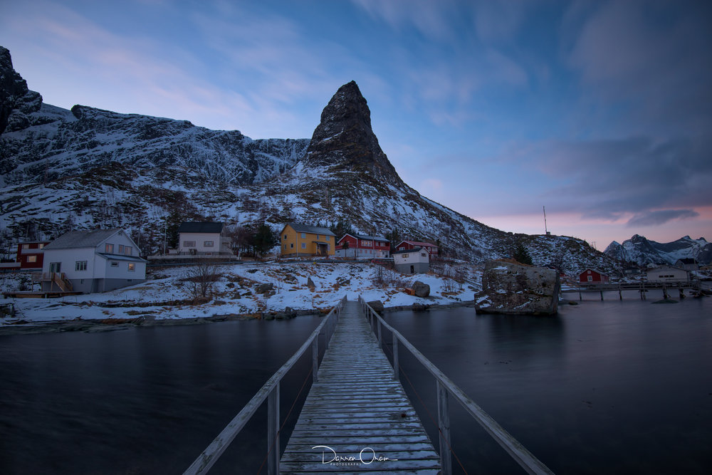 Reine, with the 'Witches Hat' Mountain