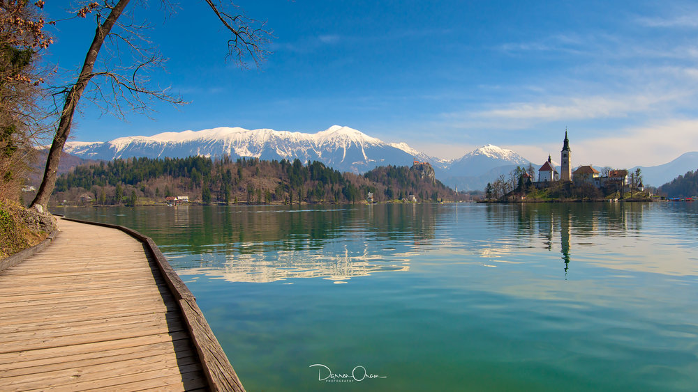 The jetty on Lake Bled