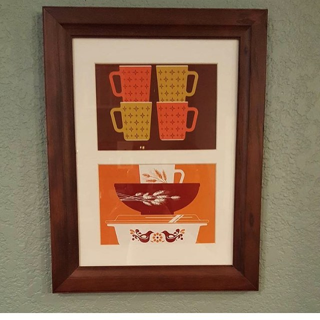 Thanks @pyrexowl for sharing this great pic of our calendar prints.  Happy November indeed!  #november #pyrex #art #pyrexia #fall #colors
