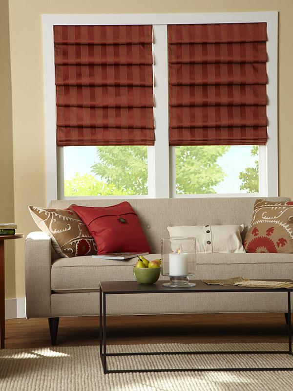 Roman Shades   Elegant and ageless window covering that folds in a cascade like manor adding dimension and depth to your room.