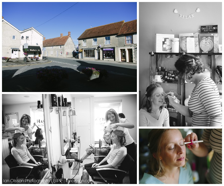 Getting wedding hair done at Hayleys hairdressers in Mere, Wiltshire
