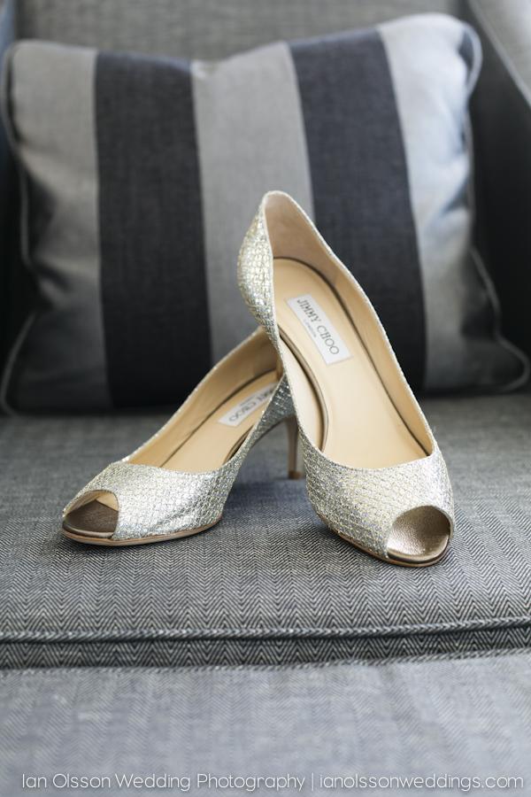 Kate's Jimmy Choo wedding shoes at Brooklands Hotel in Weybridge Surrey