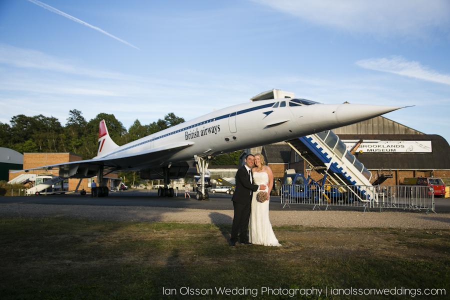 Kate & Dean's Wedding with Concorde at Brooklands Museum in Weybridge Surrey
