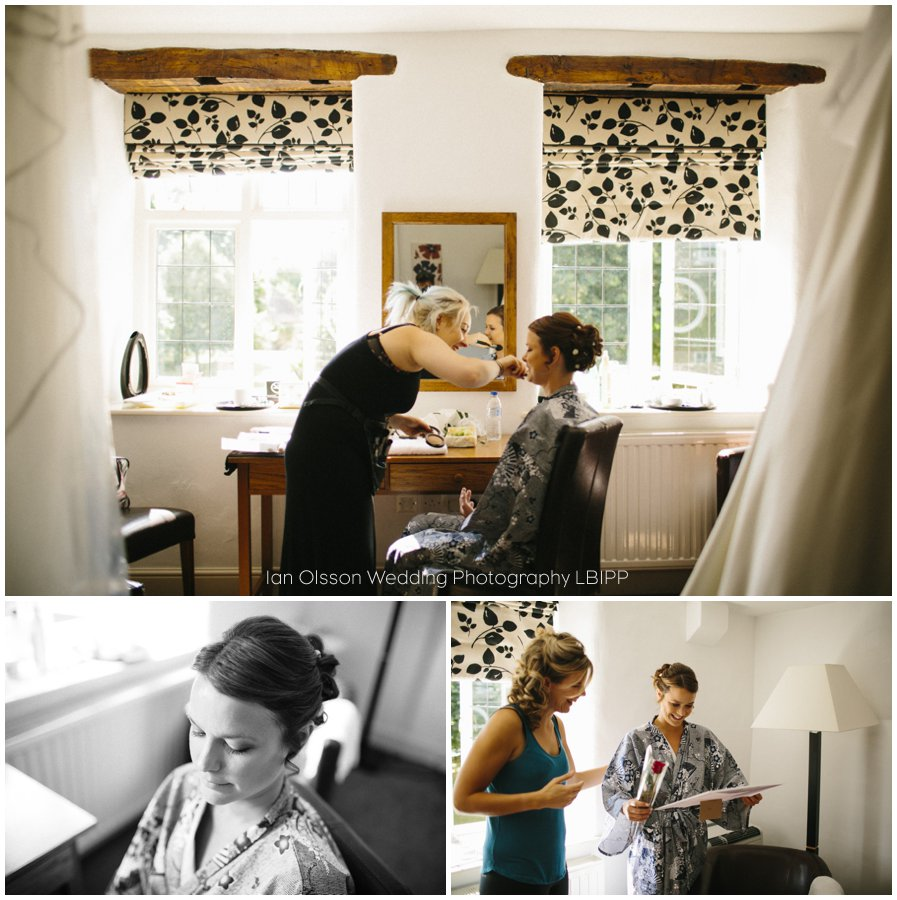 Getting ready for a wedding at the Dashwood Hotel in Oxford 2