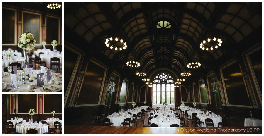 Nick & Anne-Cecile's Wedding Breakfast at the Great Hall Dulwich College London