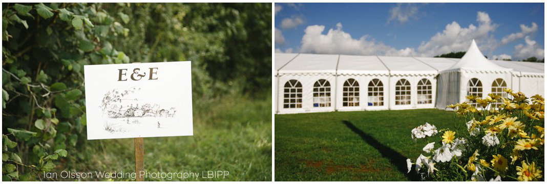 Emily and Ed's farm marquee wedding in Oxford
