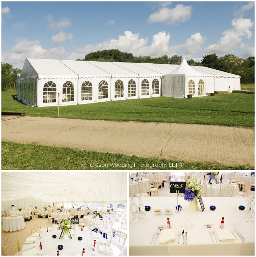 Emily and Ed's farm marquee wedding in Oxford 36