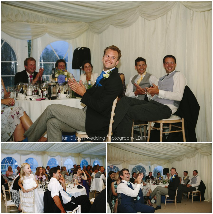 Emily and Ed's farm marquee wedding in Oxford 41