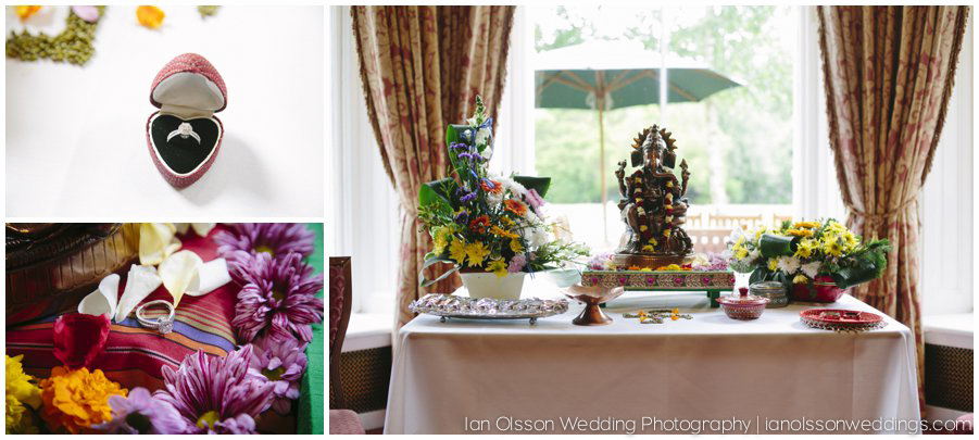 Nishil and Deepa's Hindu engagement ceremony at Oatlands Park Hotel in Weybridge Surrey