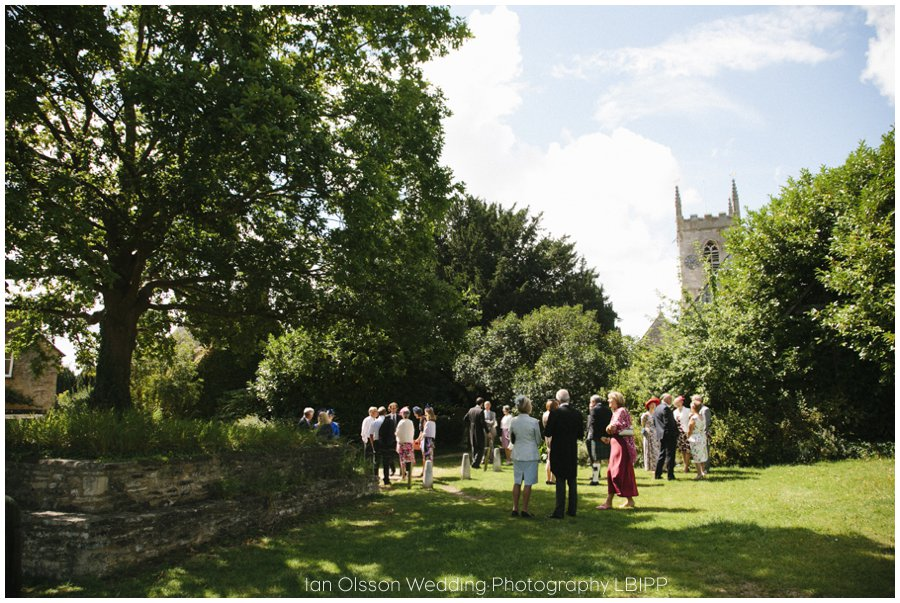 Emily and Ed's wedding at St Nicolas Church in Islip Oxford 7