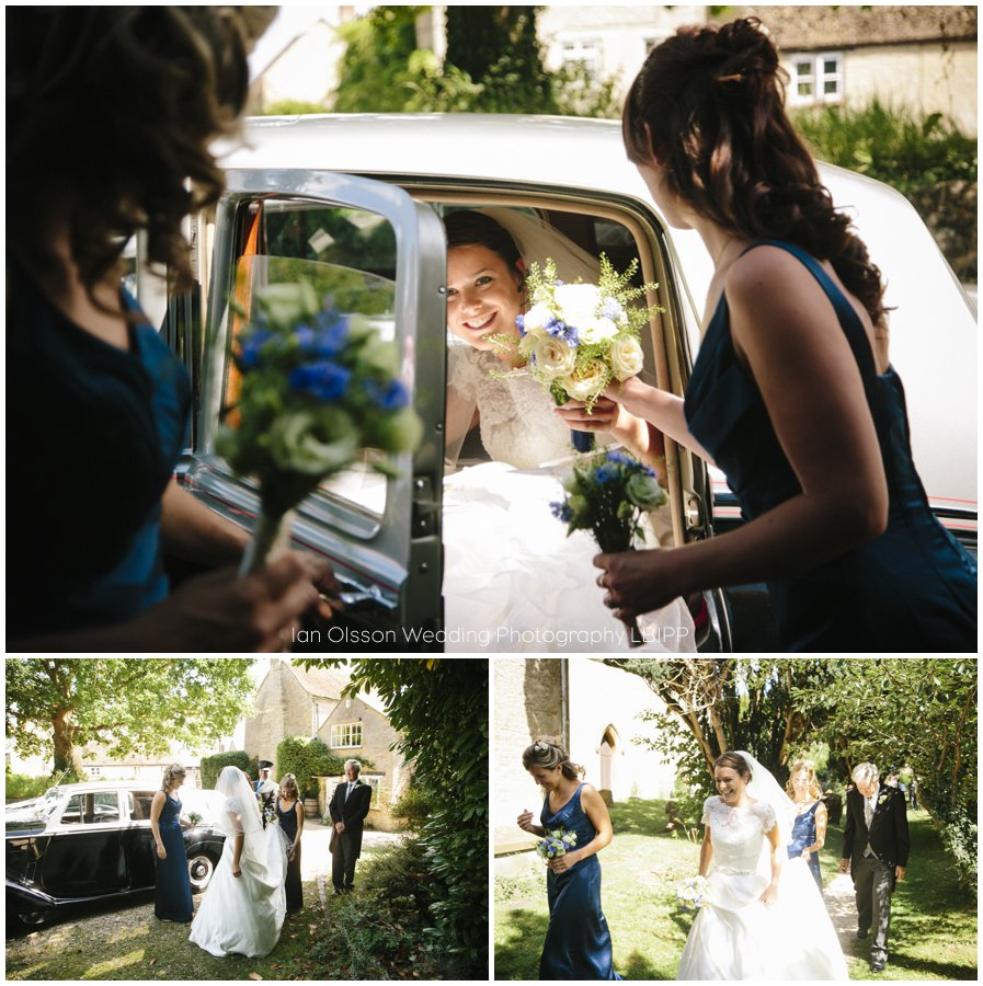 Emily and Ed's wedding at St Nicolas Church in Islip Oxford 9
