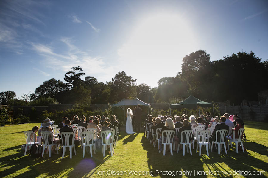 Tessa and Colin's Outdoor Wedding Ceremony at Wadhurst Castle in Kent