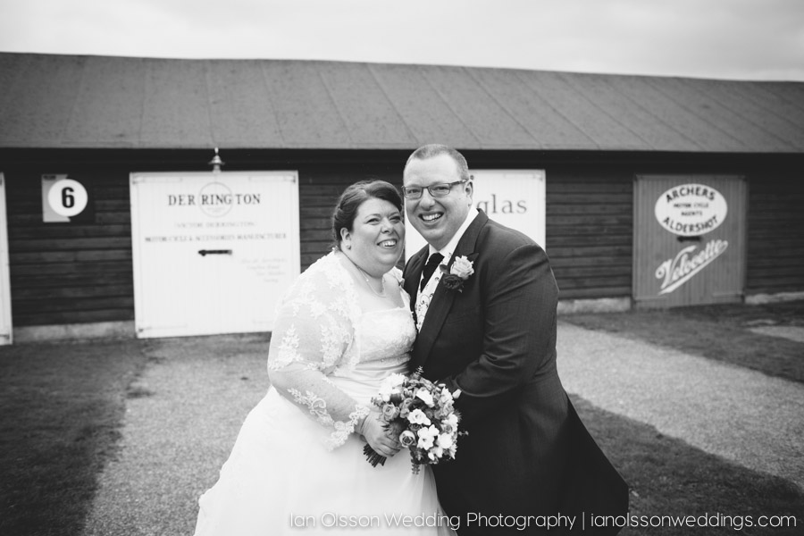Claire & Michael at their Brooklands Museum Wedding