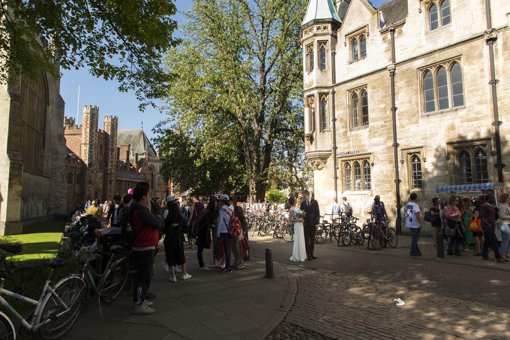 C&T Wedding Cambridge Portraits