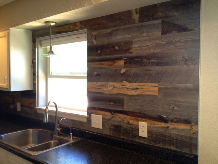 wood backsplash