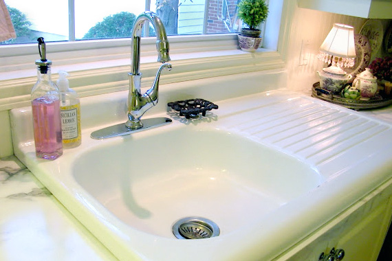 recycled sink, recycling remodel materials