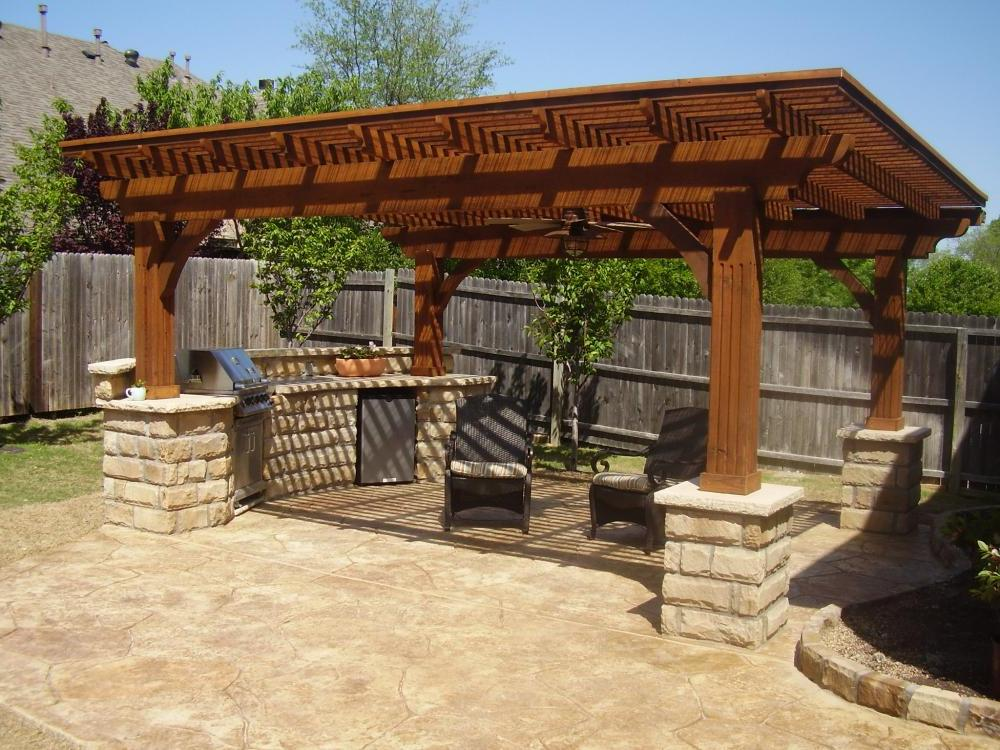 diy pergola backyard