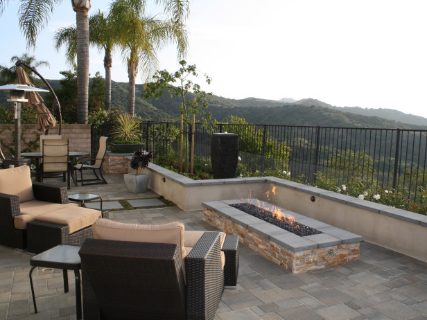custom built in fire pit scott cohen design