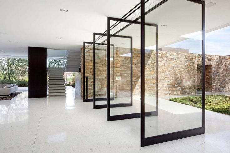 sliding glass door wall to garden