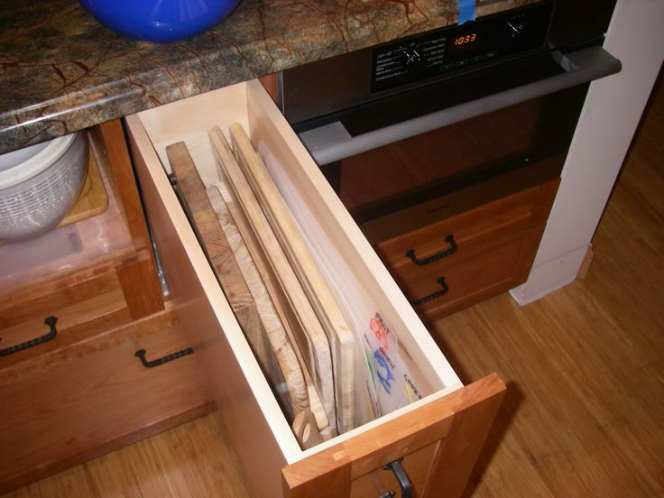 cutting board drawers
