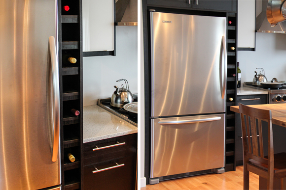 wine rack fridge
