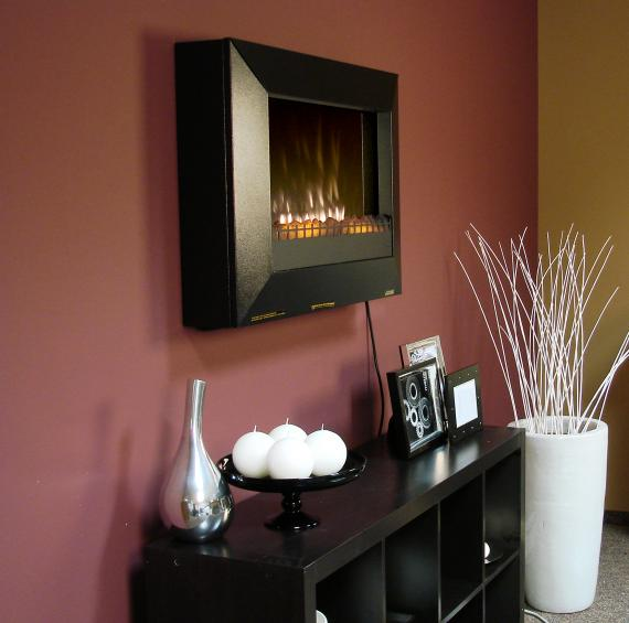 fireplace wall mounted