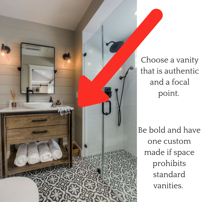 Add a bold vanity to make your bathroom remodel stand out