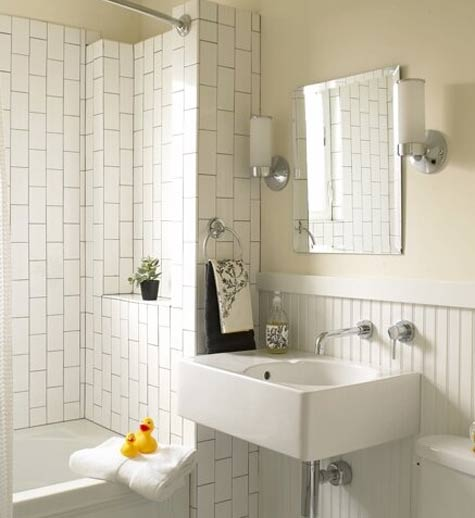bathroom vertical tile