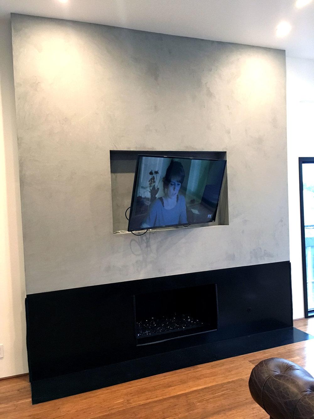 Venetian plaster concrete fireplace 3.jpg
