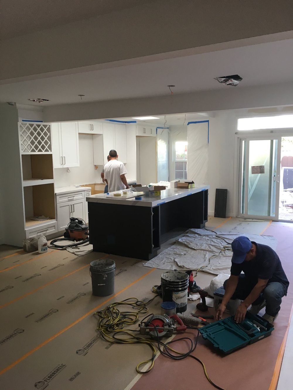 Kitchen during renovation