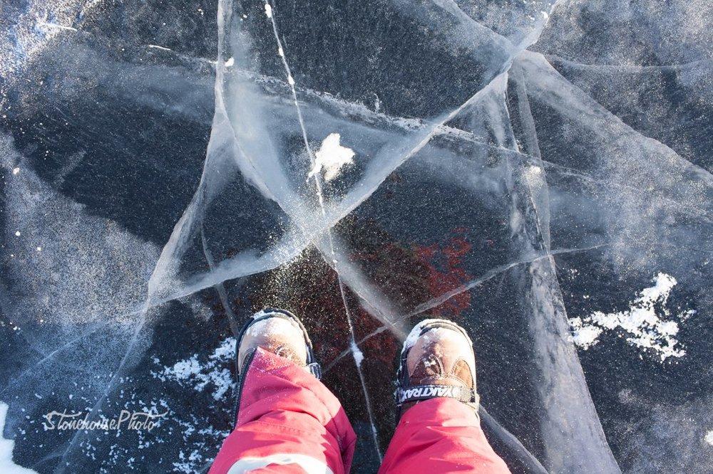 Hannah on ice