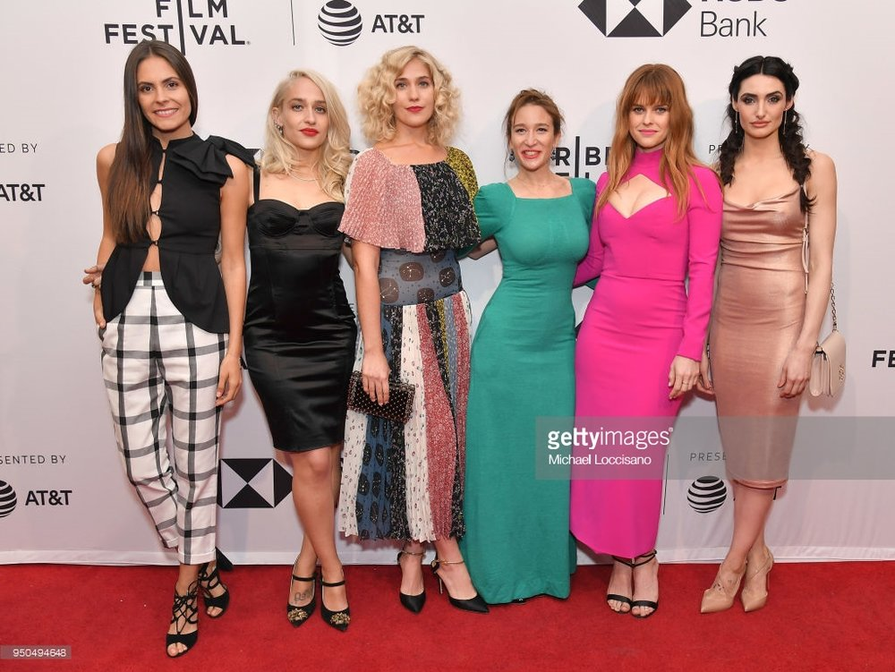 NEW YORK, NY - APRIL 23: (L-R) Elena Ghenoiu, Jemima Kirke, Lola Kirke, Emma Forrest, Alice Eve and Chloe Catherine Kim attend the screening of 'Untogether' during the 2018 Tribeca Film Festival at SVA Theatre on April 23, 2018 in New York City. (Photo by  Michael Loccisano/Getty Images  for Tribeca Film Festival)