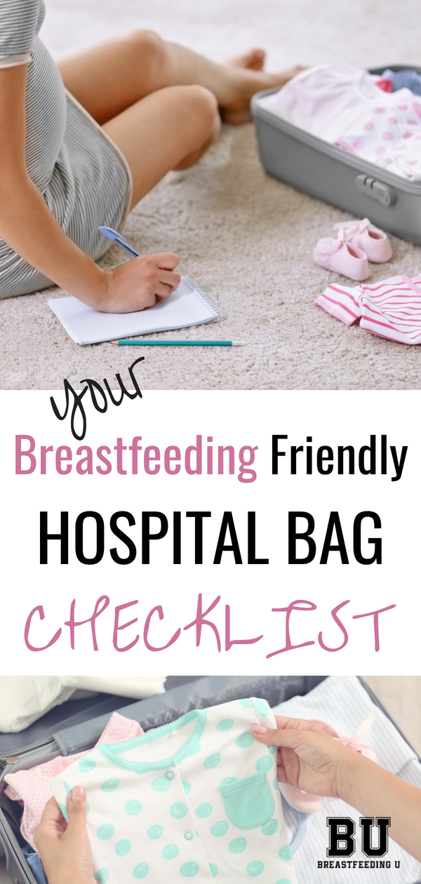 Knowing what to pack in your hospital bag can be a little confusing. What will you actually need, especially if you are planning to breastfeed? These are five breastfeeding friendly products I found super helpful nursing my little ones during my hospital stay! #breastfeeding #hospitalbag #breastfeedingessentials
