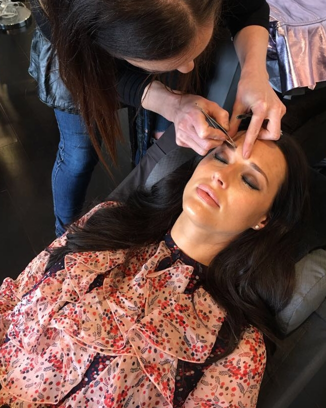 @clementinemcveigh   during her BROW RENOVATION