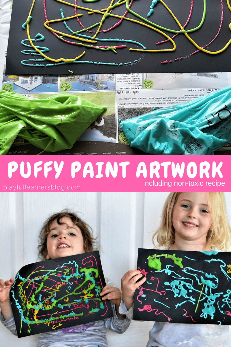 Puffy Paint Artwork for kids