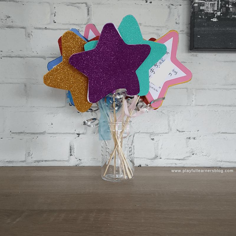 fairy wand birthday invitations square