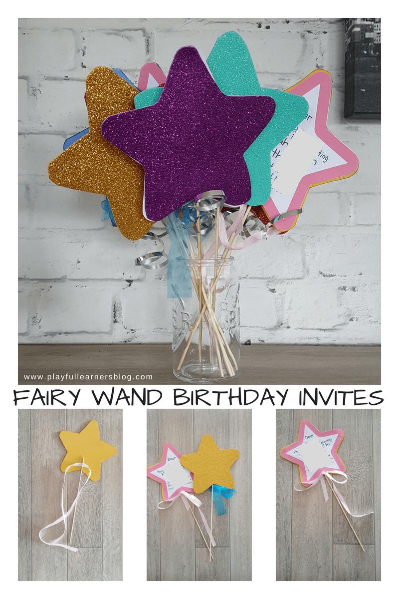 Fairy Wand Birthday Invite
