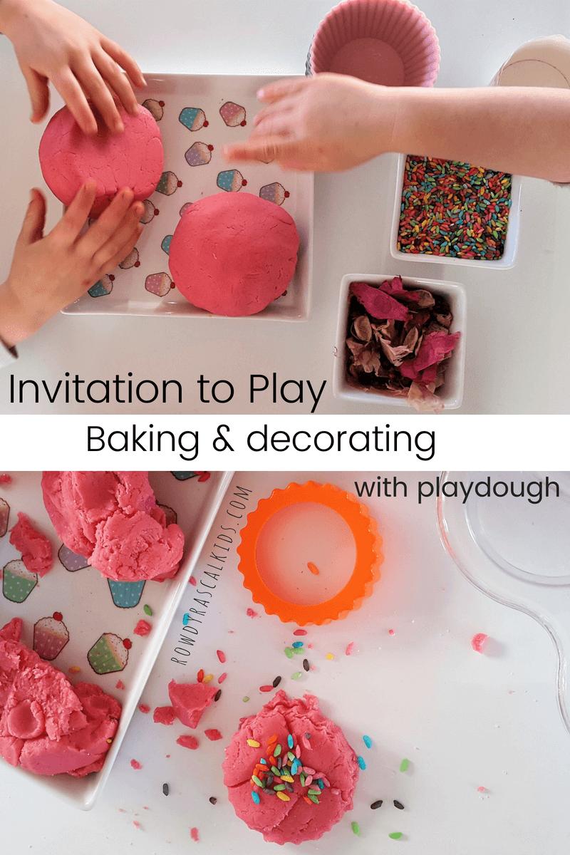 playdough cupcakes invitation to create
