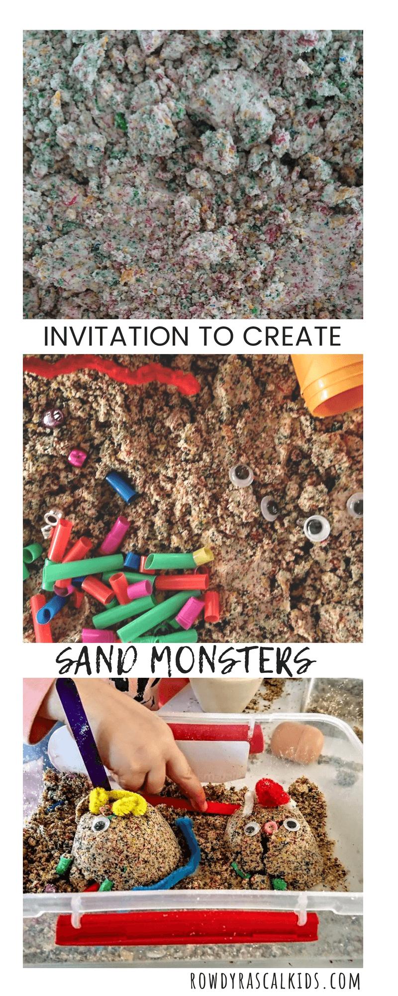 invitation to create moon sand monsters