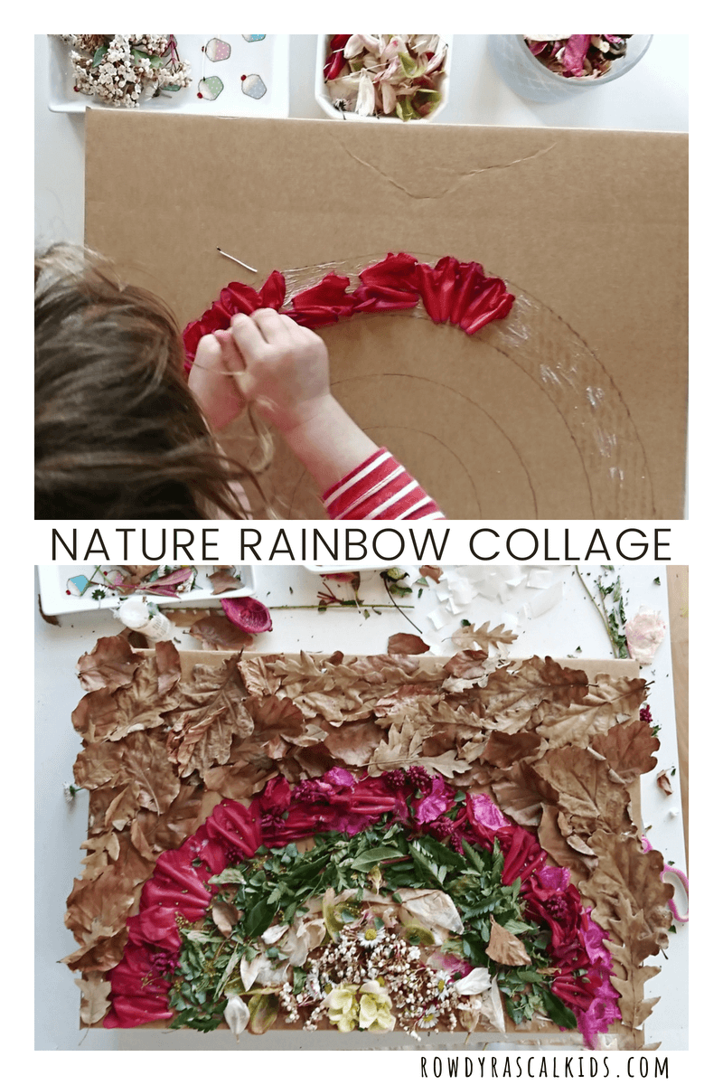 nature rainbow collage