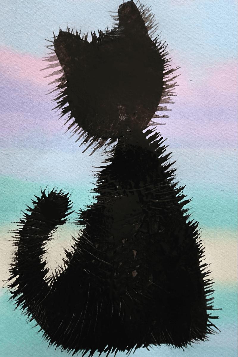 cat silhouette artwork