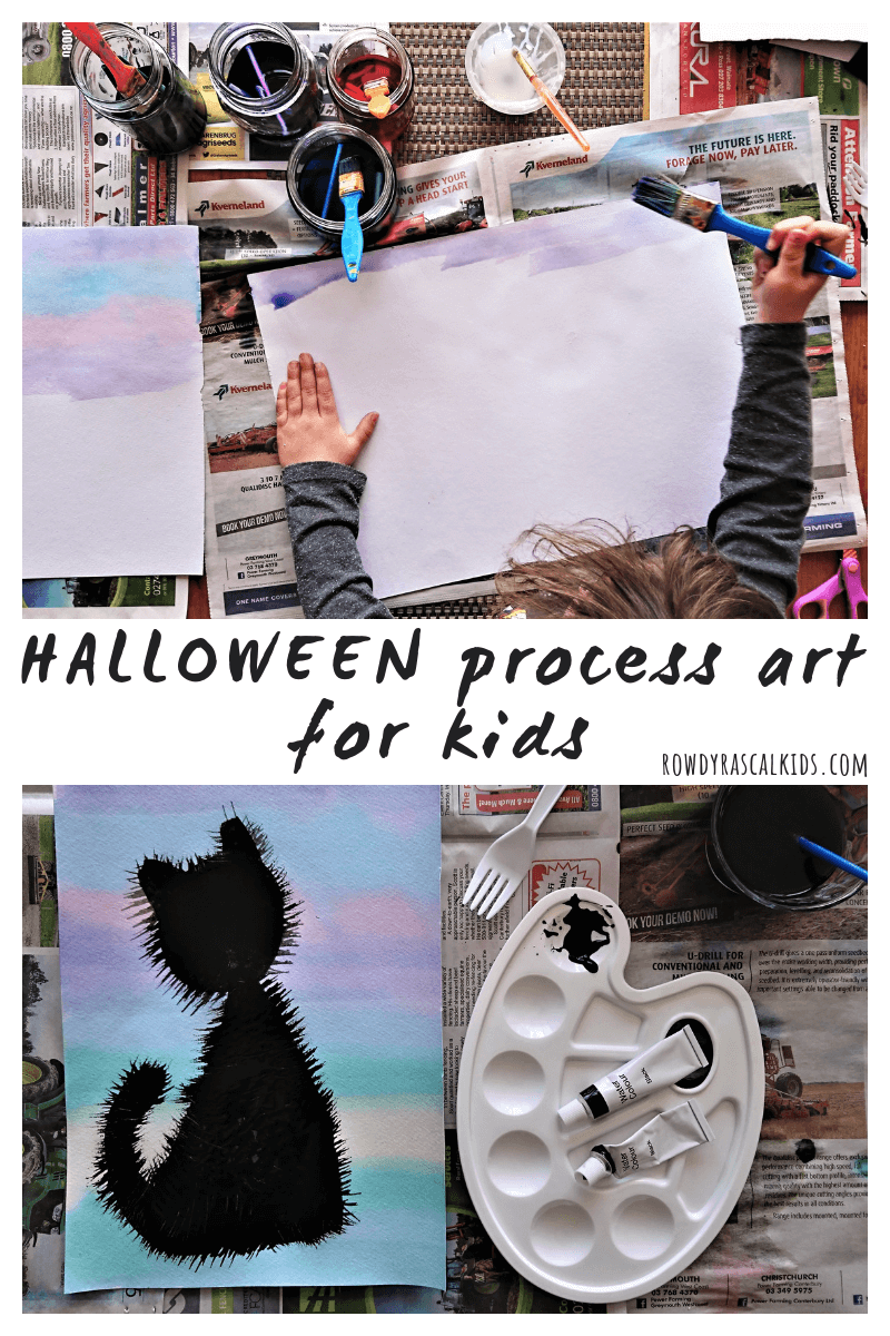 halloween process art project