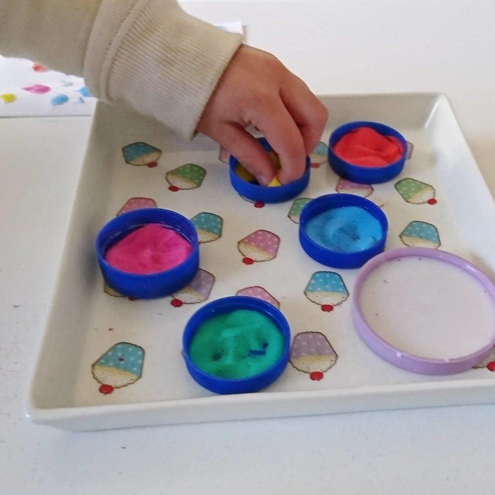finger painting sand art