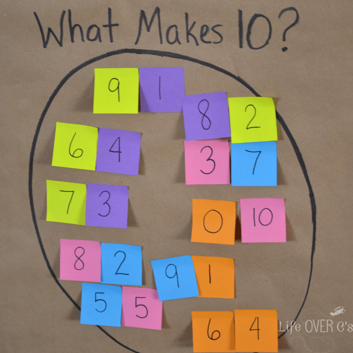 MAKE 10 WITH STICKY NOTES